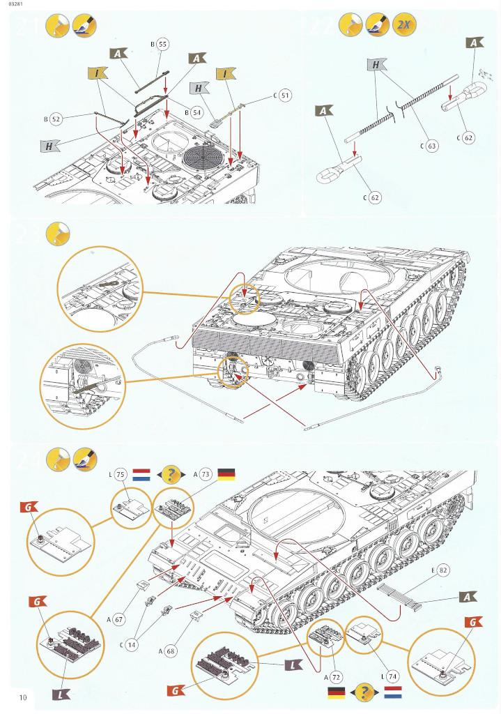 Anleitung10-1 Leopard 2 A6/A6NL 1:35 Revell (#03281)