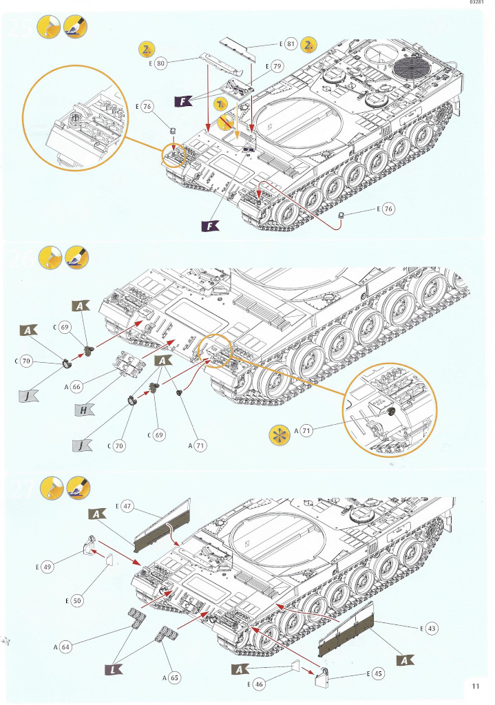 Anleitung11-1 Leopard 2 A6/A6NL 1:35 Revell (#03281)