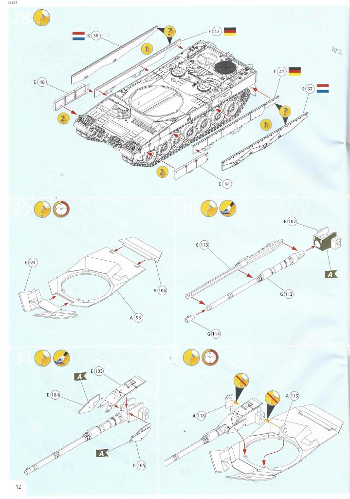 Anleitung12-1 Leopard 2 A6/A6NL 1:35 Revell (#03281)
