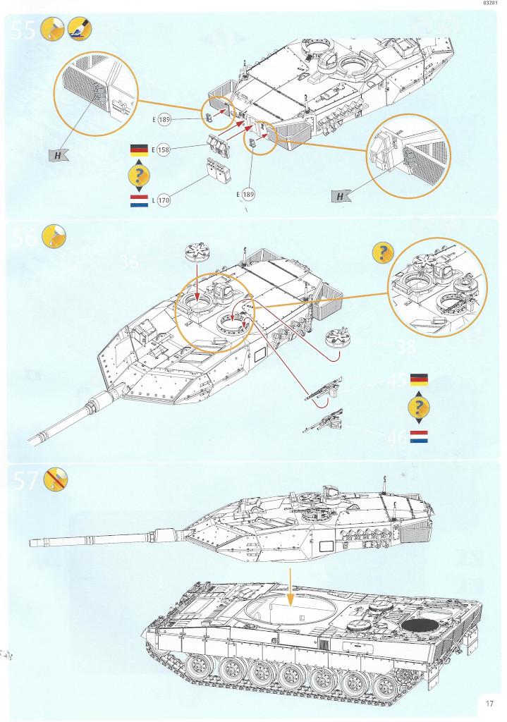 Anleitung17-1 Leopard 2 A6/A6NL 1:35 Revell (#03281)
