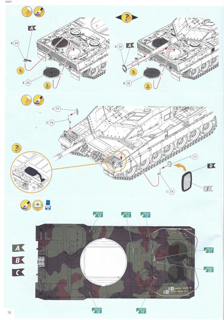 Anleitung18-1 Leopard 2 A6/A6NL 1:35 Revell (#03281)
