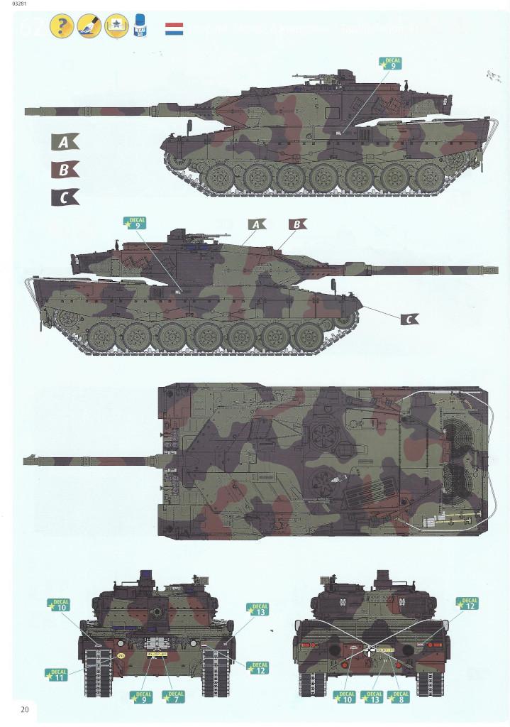 Anleitung20-1 Leopard 2 A6/A6NL 1:35 Revell (#03281)