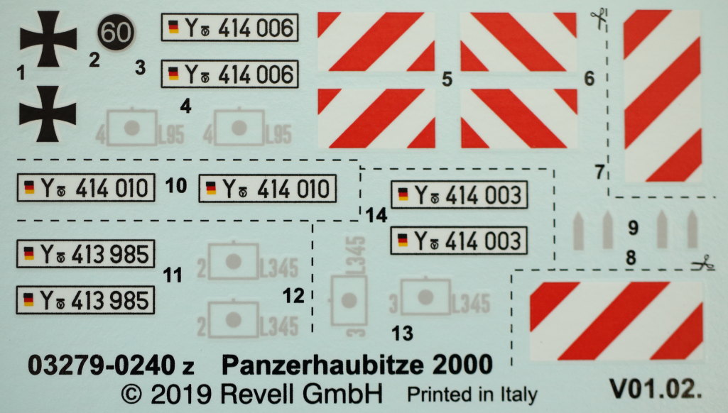 Decals Panzerhaubitze 2000 1:35 Revell (#03279)