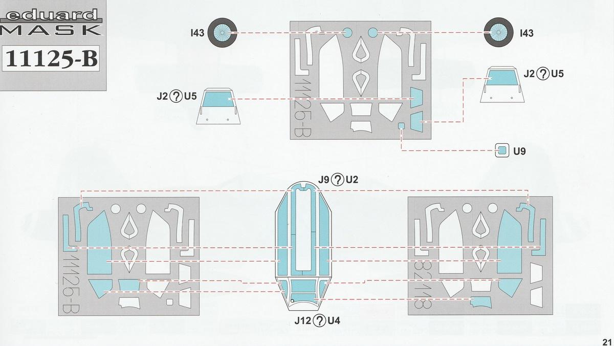 "Eduard-11125-Bodenplatte-Dual-Combo-Masken Eduard Dual-Combo #11125 ""Bodenplatte"" Limited Edition in 1:48"