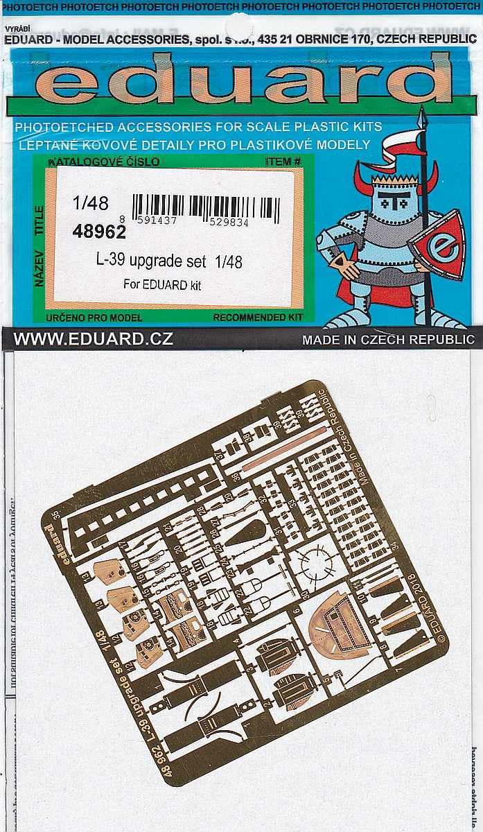 Eduard-48962-L-39-Upgrade-set-1 Zubehör für die 1:48er L-39 Albatros von Eduard