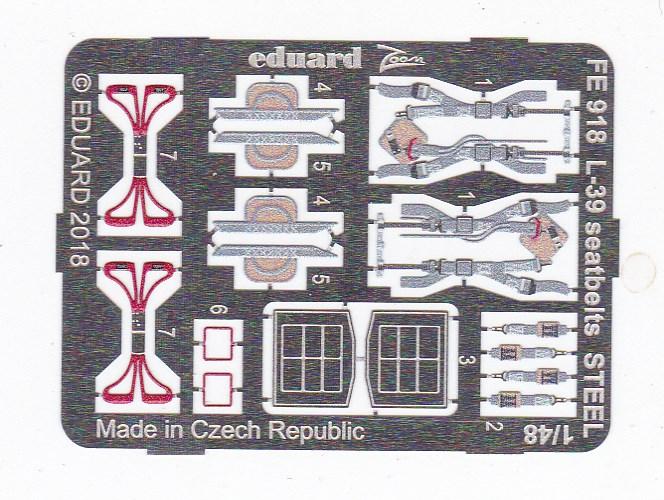Eduard-FE-918-L-39-Albatros-Seatbelts-STEEL-1 Zubehör für die 1:48er L-39 Albatros von Eduard