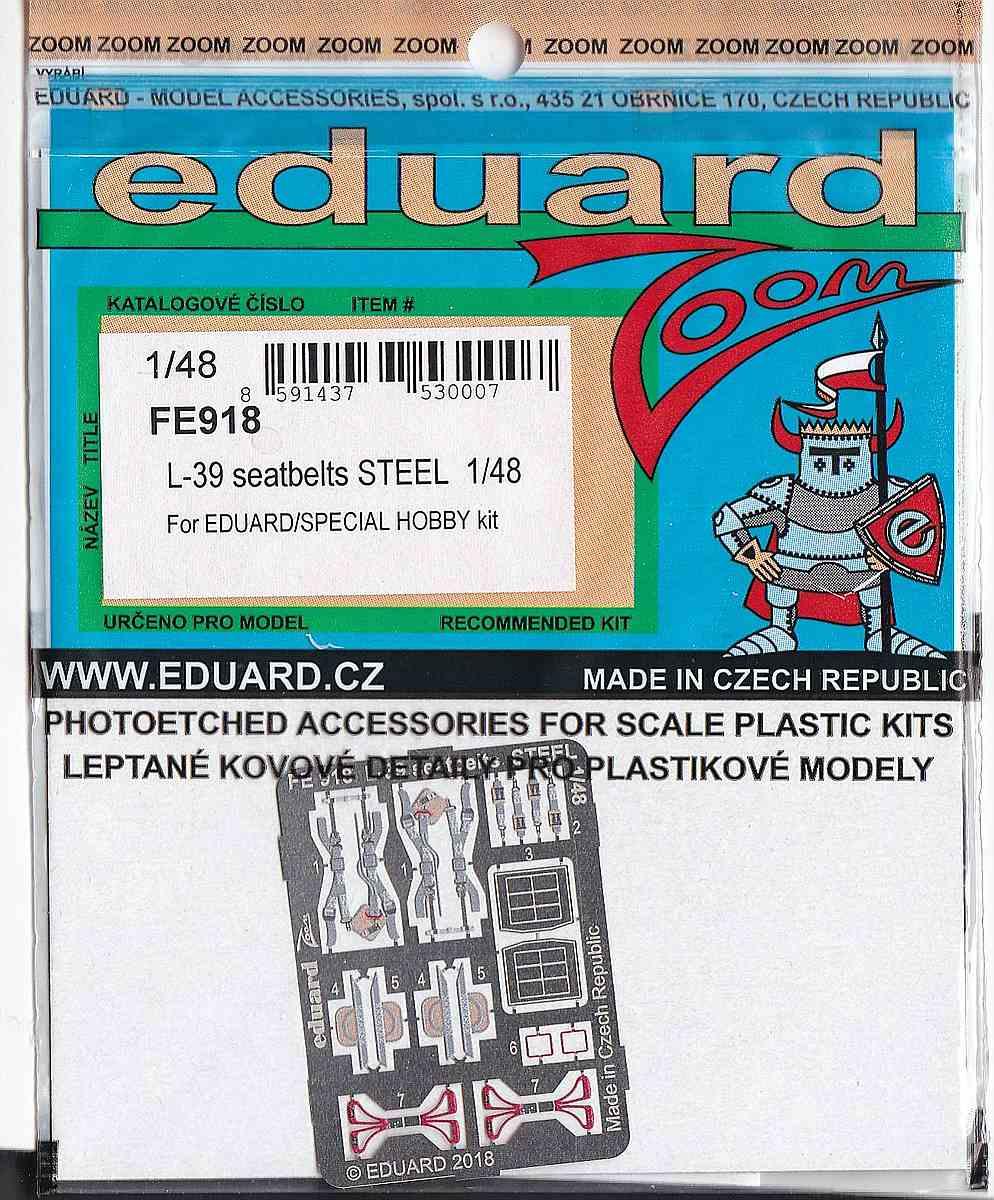 Eduard-FE-918-L-39-Albatros-Seatbelts-STEEL Zubehör für die 1:48er L-39 Albatros von Eduard