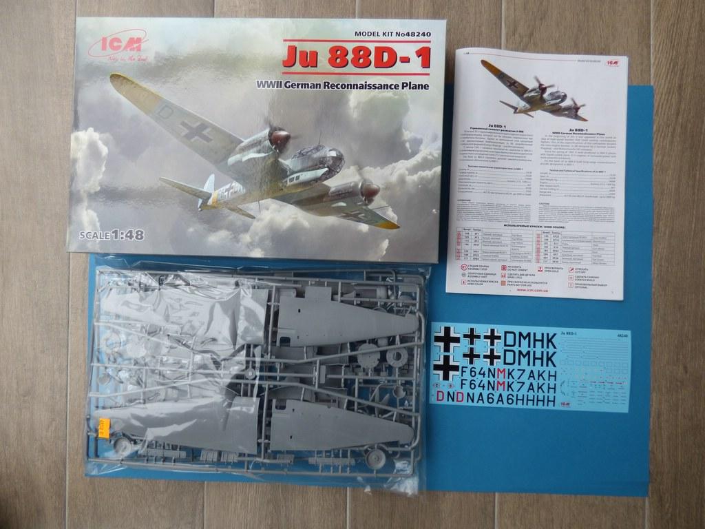 ICM-48240-Ju-88-D-1-4 Junkers Ju 88 D-1 in 1:48 von ICM # 48240