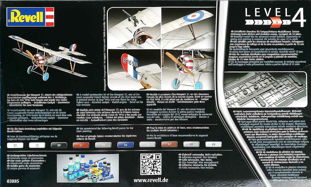 REvell-03885-Nieuport-7-21 Nieuport 17 in 1:48 von Revell 03885