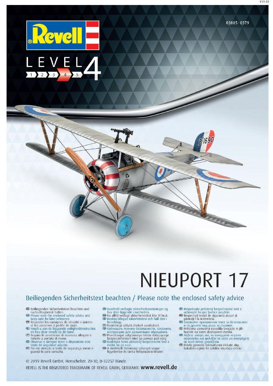 Revell-03885-Nieuport-17-Bauanleitung-11 Nieuport 17 in 1:48 von Revell 03885