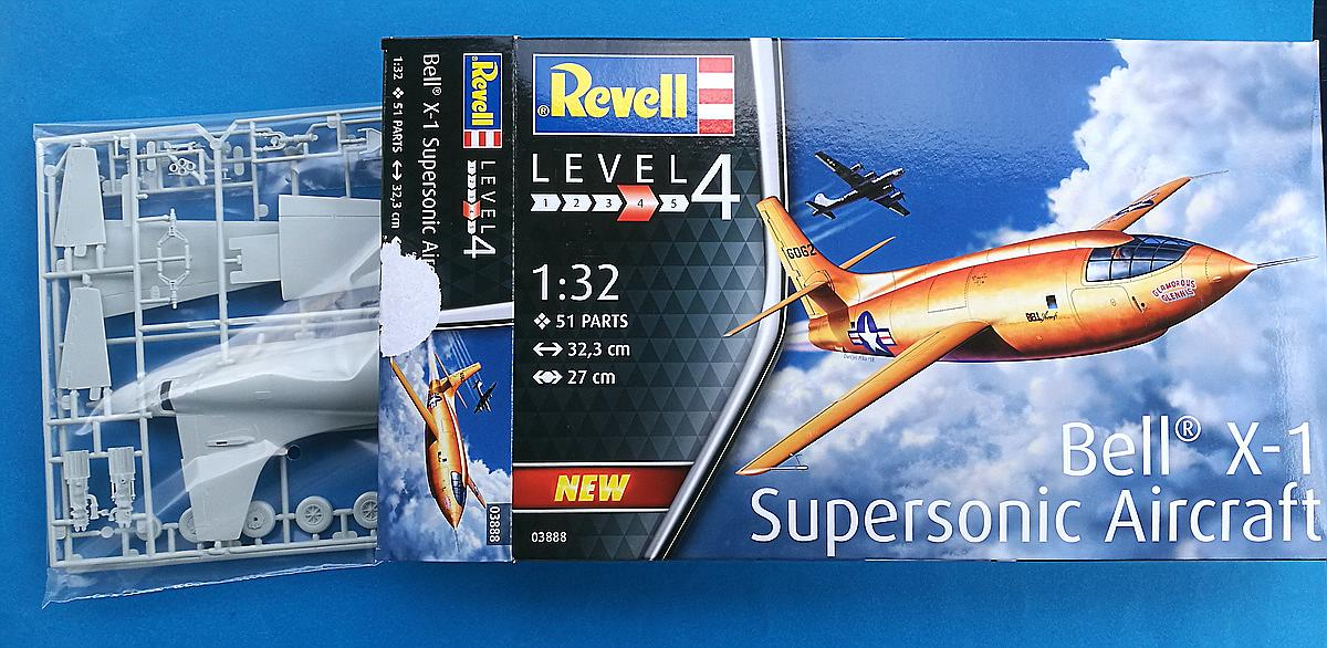 Revell-03888-Bell-X-1-3 Bell X-1 Supersonic Aircraft in 1:32 von Revell 03888