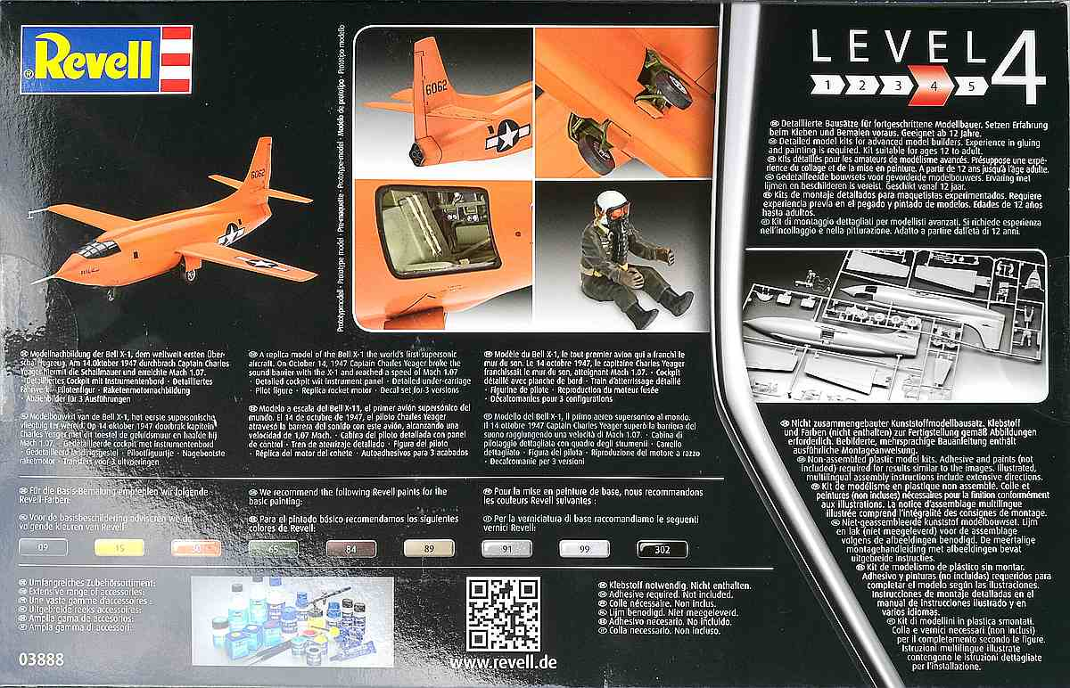 Revell-03888-Bell-X-1-33 Bell X-1 Supersonic Aircraft in 1:32 von Revell 03888