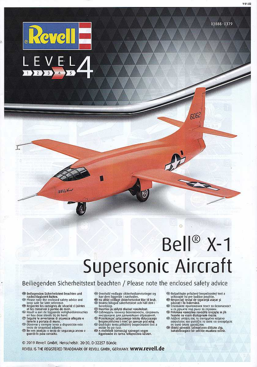 Revell-03888-Bell-X-1-37 Bell X-1 Supersonic Aircraft in 1:32 von Revell 03888