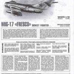 Zvezda-7318-MiG-17-2-150x150 MiG-17 Fresco in 1:72 von Zvezda # 7318