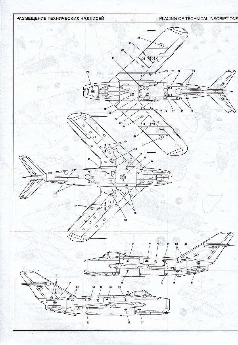 Zvezda-7318-MiG-17-3 MiG-17 Fresco in 1:72 von Zvezda # 7318