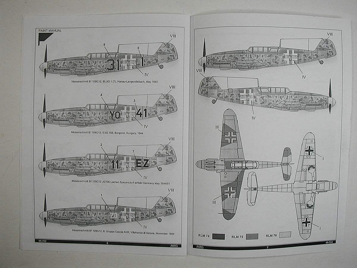 AMG-48-702-Me-Bf-109-G-12-13 Messerschmitt Bf 109 G-12 Trainer in 1:48 von AMG 48-702