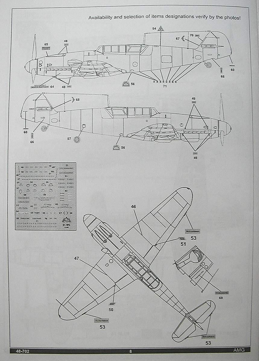 AMG-48-702-Me-Bf-109-G-12-14 Messerschmitt Bf 109 G-12 Trainer in 1:48 von AMG 48-702