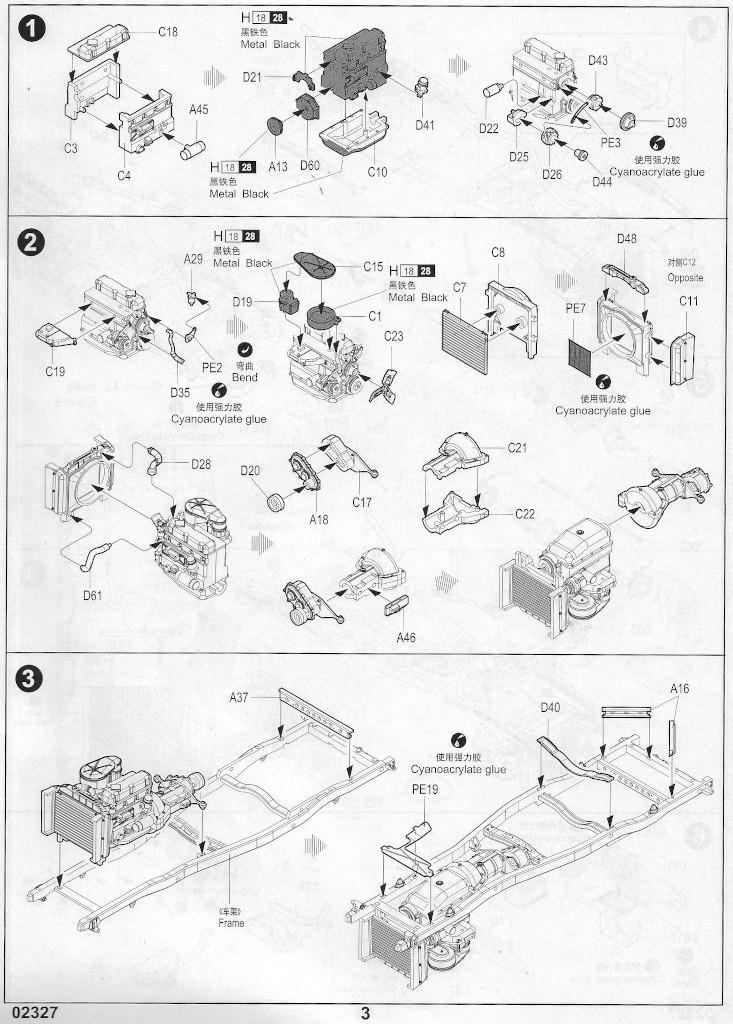 Anleitung-03 Soviet UAZ-469 All Terrain Vehicle 1:35 Trumpeter (#02327)