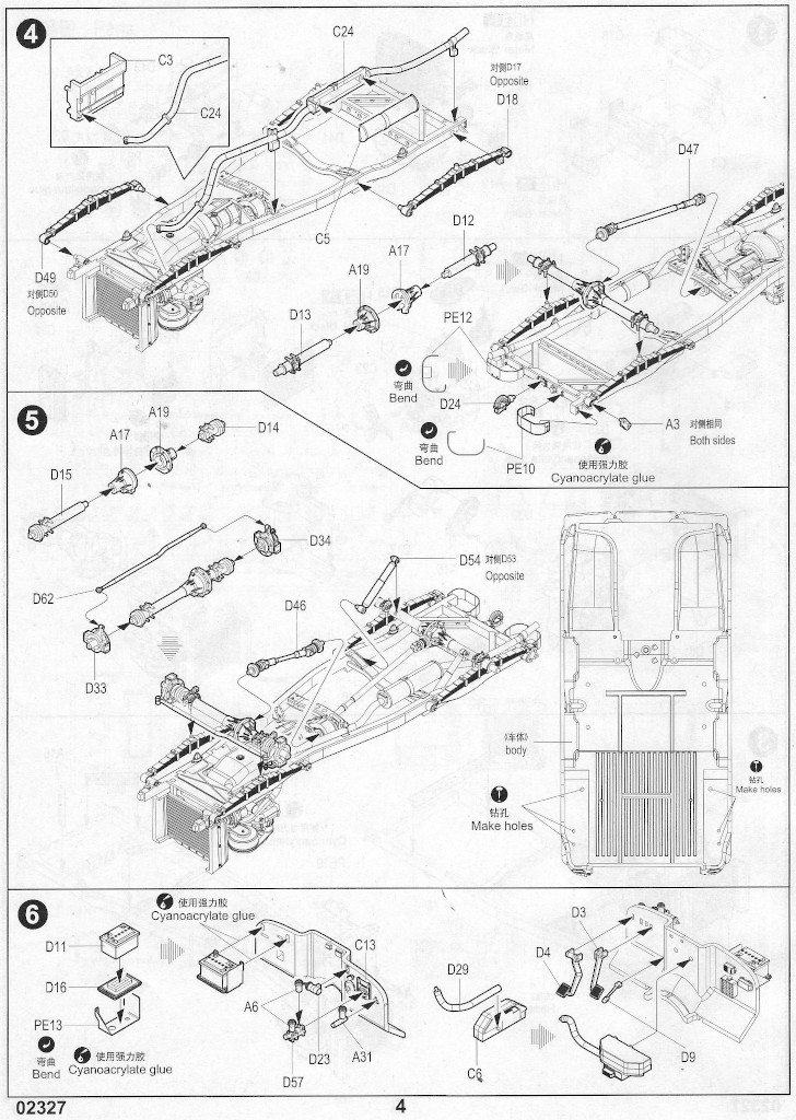 Anleitung-04 Soviet UAZ-469 All Terrain Vehicle 1:35 Trumpeter (#02327)