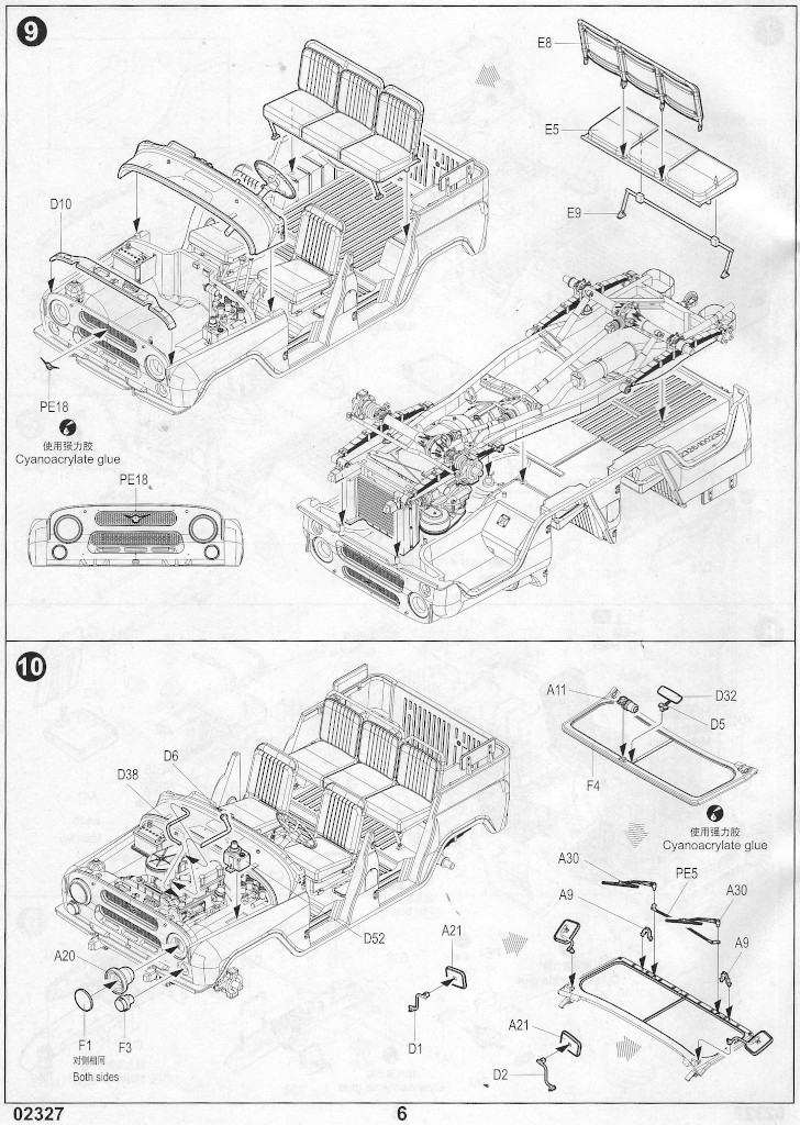 Anleitung-06 Soviet UAZ-469 All Terrain Vehicle 1:35 Trumpeter (#02327)