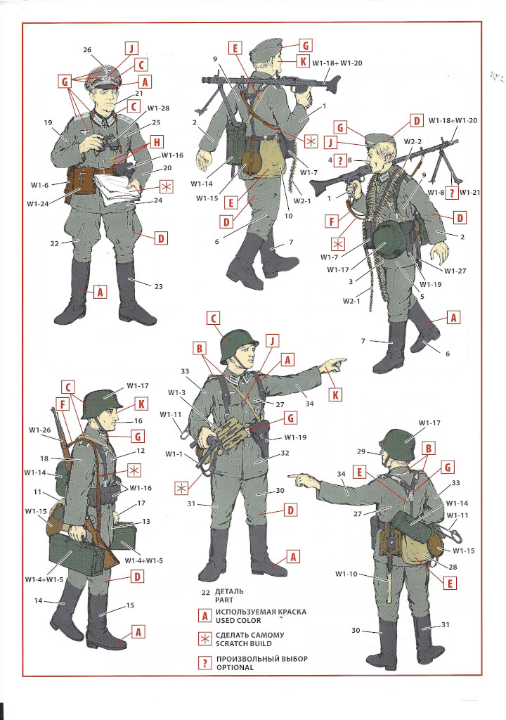 """Anleitung-Infantry-02 Army Group """"Center"""" (Summer 1941) 1:35 ICM (#DS3502)"""