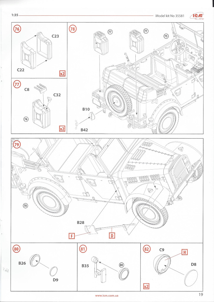 """Anleitung-Kfz1-19 Army Group """"Center"""" (Summer 1941) 1:35 ICM (#DS3502)"""