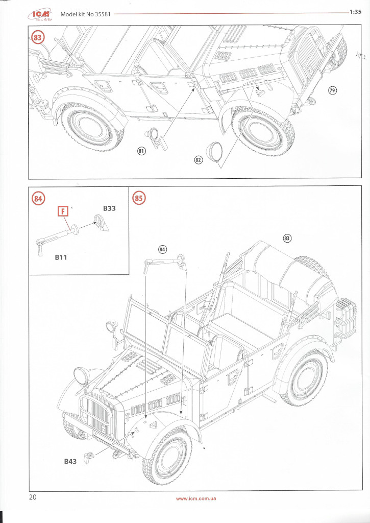 """Anleitung-Kfz1-20 Army Group """"Center"""" (Summer 1941) 1:35 ICM (#DS3502)"""