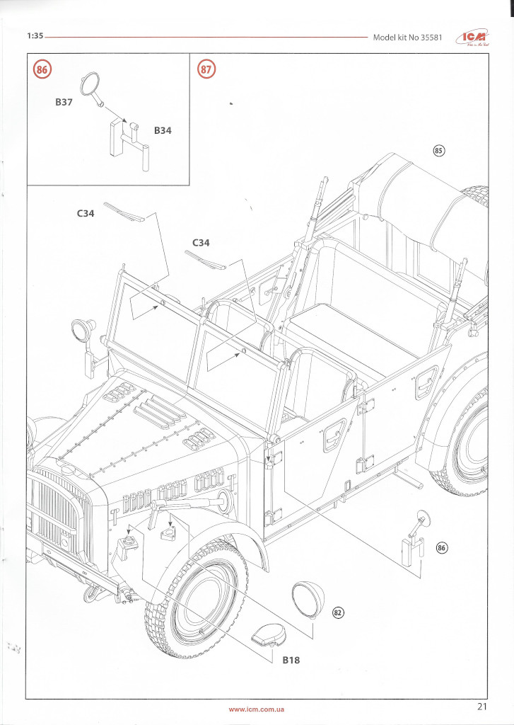 """Anleitung-Kfz1-21 Army Group """"Center"""" (Summer 1941) 1:35 ICM (#DS3502)"""