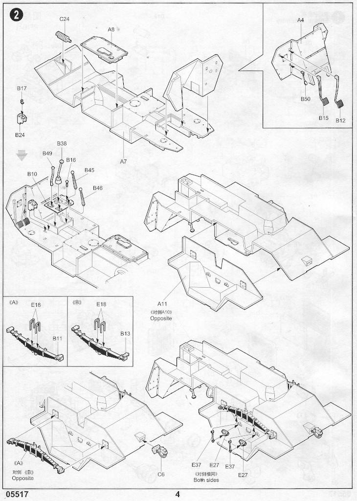 Anleitung03-1 Russian BTR-40 APC 1:35 Trumpeter (#05517)