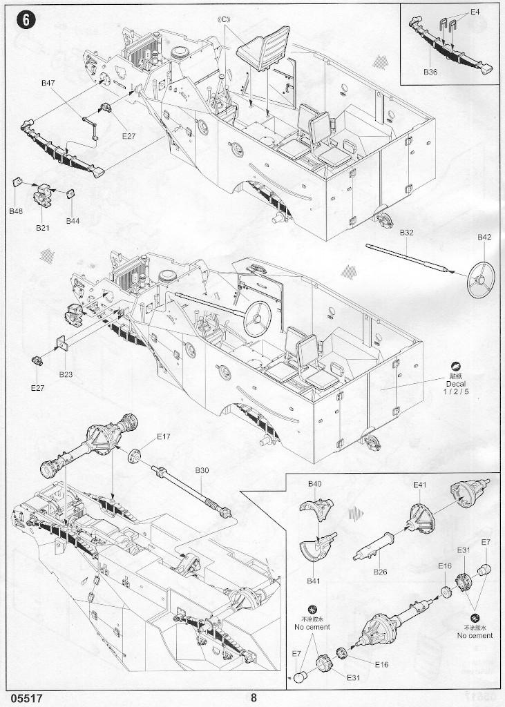 Anleitung07-1 Russian BTR-40 APC 1:35 Trumpeter (#05517)