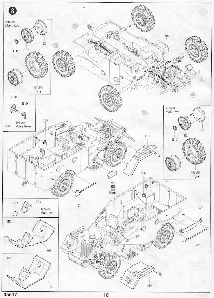 Anleitung09 Russian BTR-40 APC 1:35 Trumpeter (#05517)