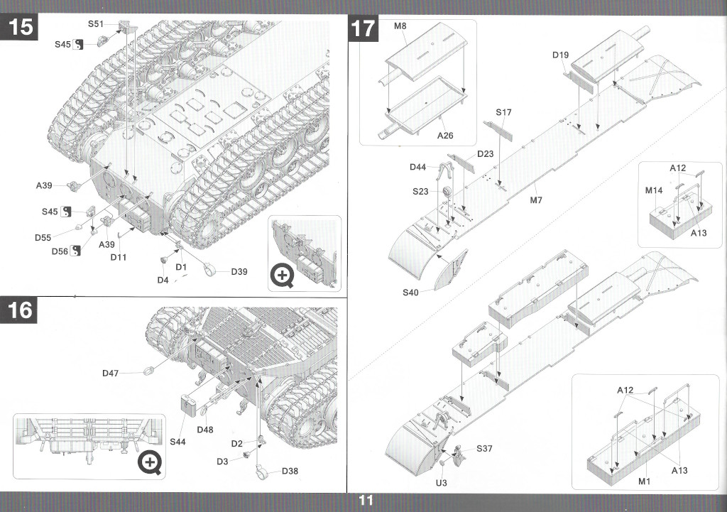 Anleitung12-1 M46 Patton Takom 1:35 (#2117 )