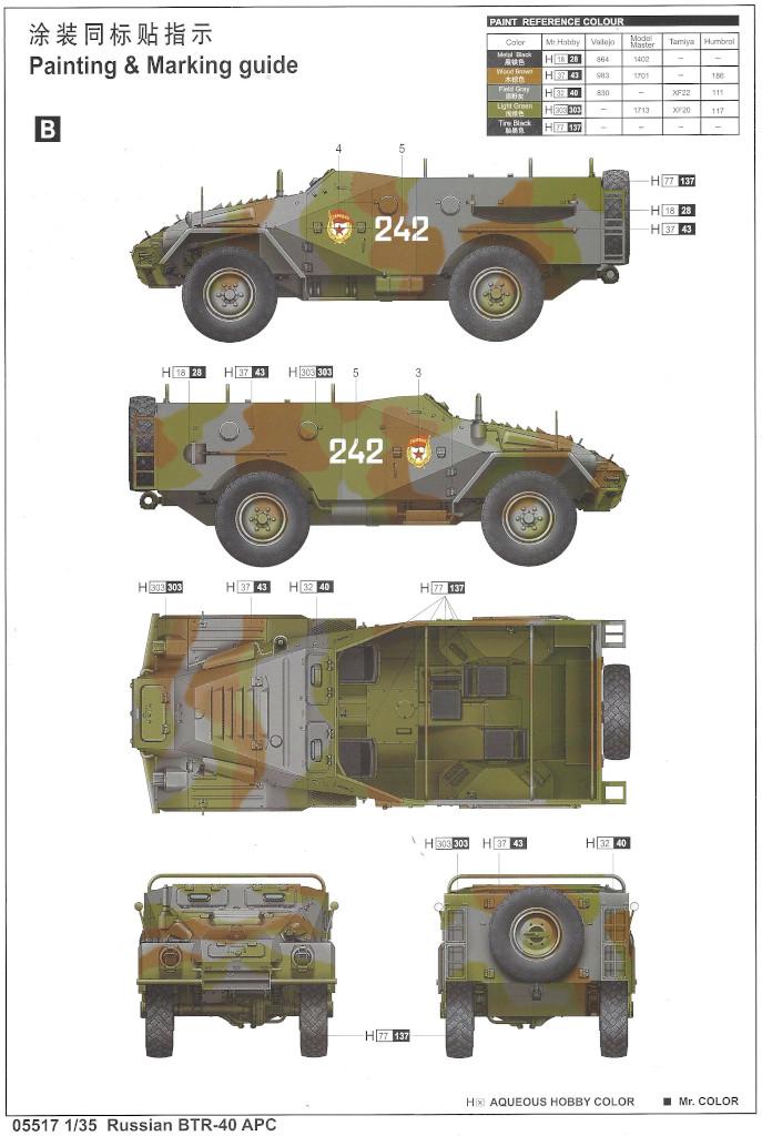 Anleitung12 Russian BTR-40 APC 1:35 Trumpeter (#05517)