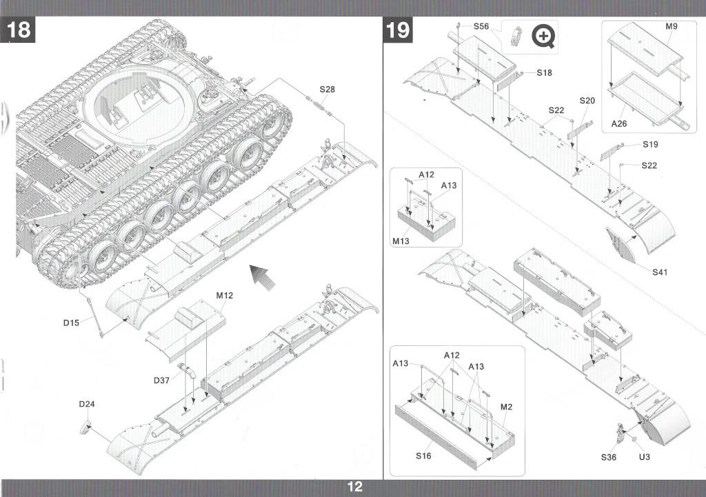 Anleitung13-1 M46 Patton Takom 1:35 (#2117 )