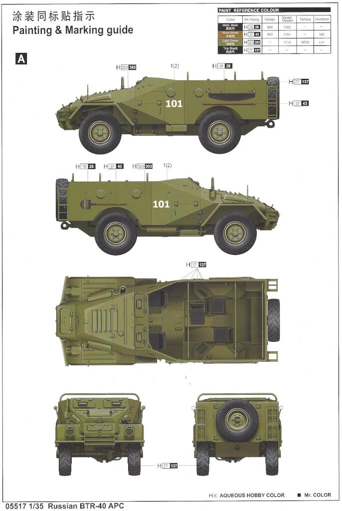 Anleitung13 Russian BTR-40 APC 1:35 Trumpeter (#05517)