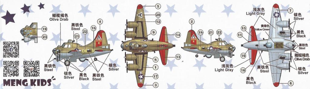 B-17-Anleitung2 B-17G 1:Egg Meng Kids (#mPLANE-001)