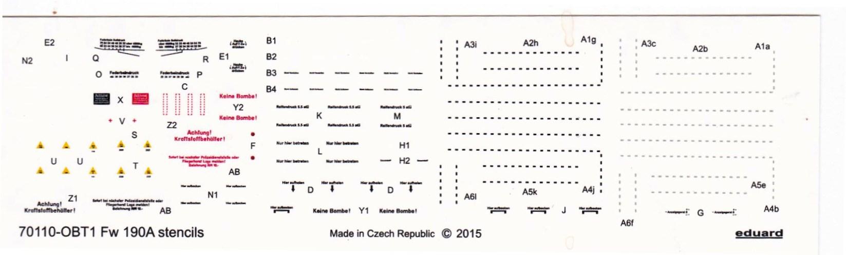 Eduard-70111-FW-190-A-8-Decals-Stencils FW 190 A-8 PROFIPACK in 1:72 von Eduard 70111