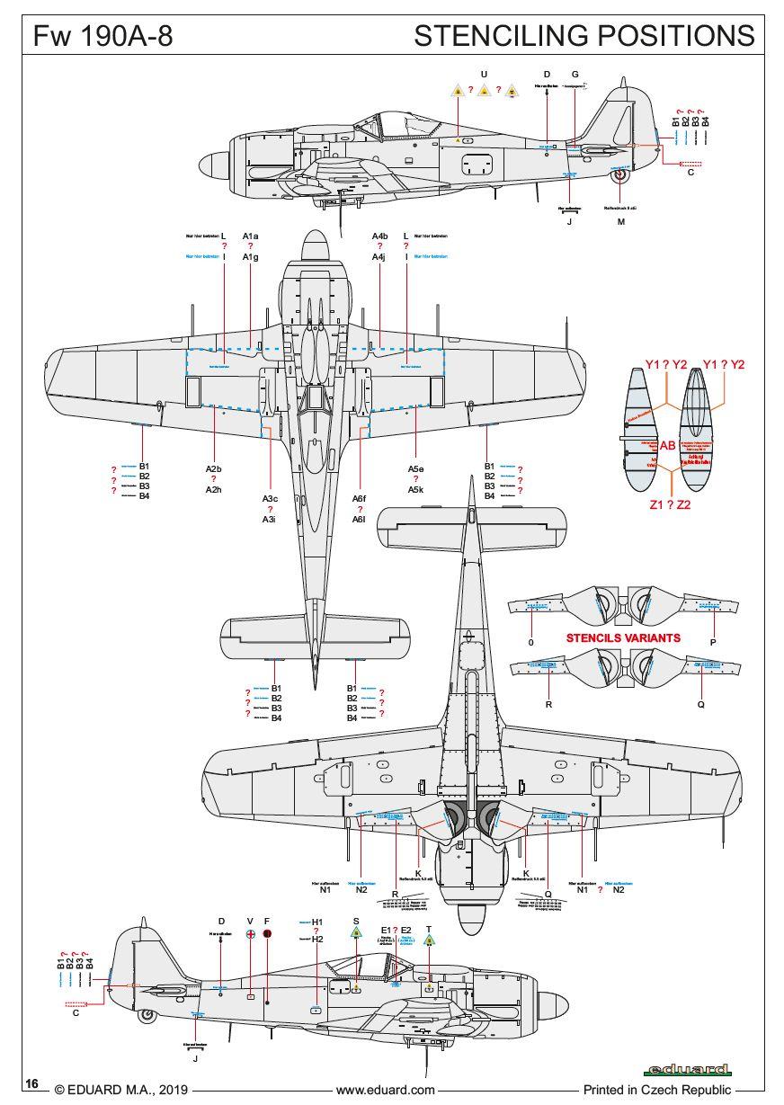 Eduard-70111-FW-190-A-8-ProfiPack-Stencil-placement FW 190 A-8 PROFIPACK in 1:72 von Eduard 70111