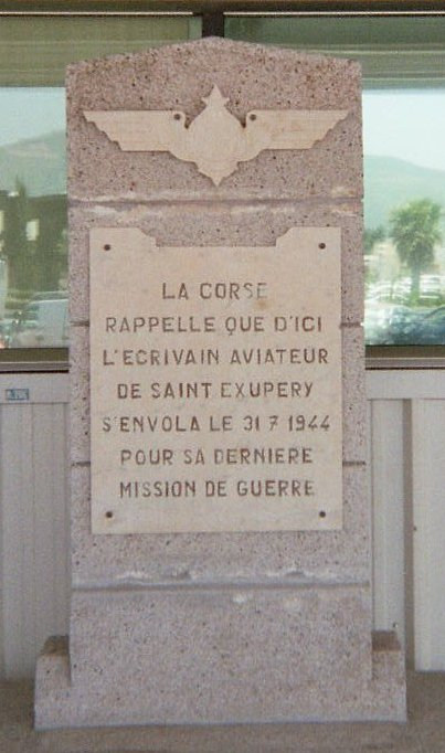 Mémorial_de_Saint-Exupéry_Bastia_airport_01 31. Juli 1944 - heute vor 75 Jahren starb Antoine de Saint-Exupéry