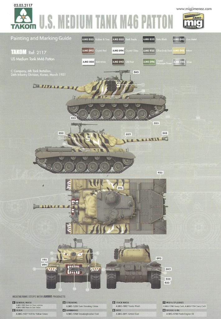 Markierung1-1 M46 Patton Takom 1:35 (#2117 )