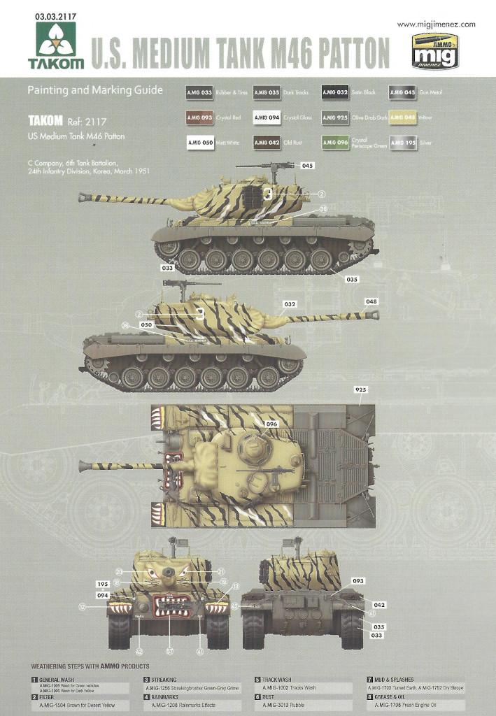 Markierung2-1 M46 Patton Takom 1:35 (#2117 )