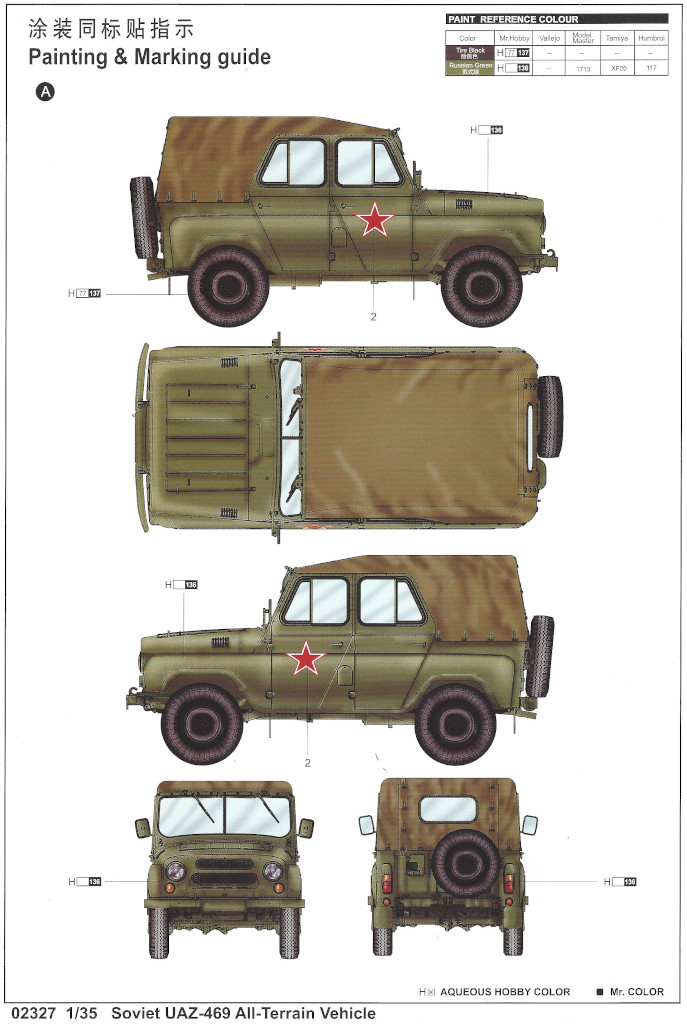 Markierung2 Soviet UAZ-469 All Terrain Vehicle 1:35 Trumpeter (#02327)