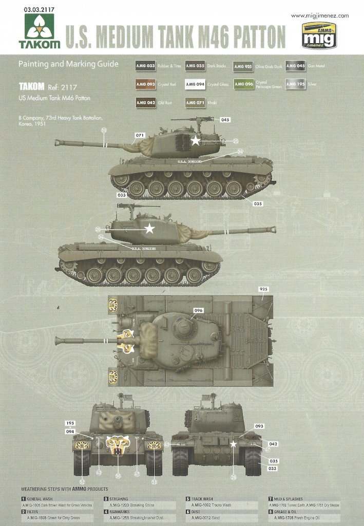 Markierung3 M46 Patton Takom 1:35 (#2117 )