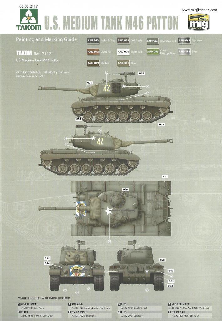 Markierung4 M46 Patton Takom 1:35 (#2117 )