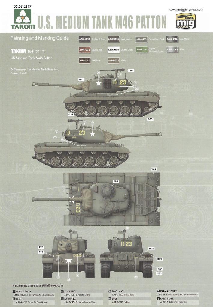Markierung6 M46 Patton Takom 1:35 (#2117 )