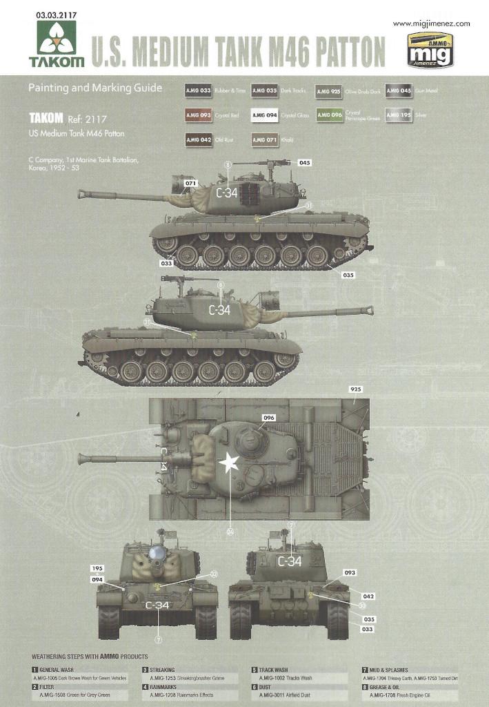 Markierung7 M46 Patton Takom 1:35 (#2117 )