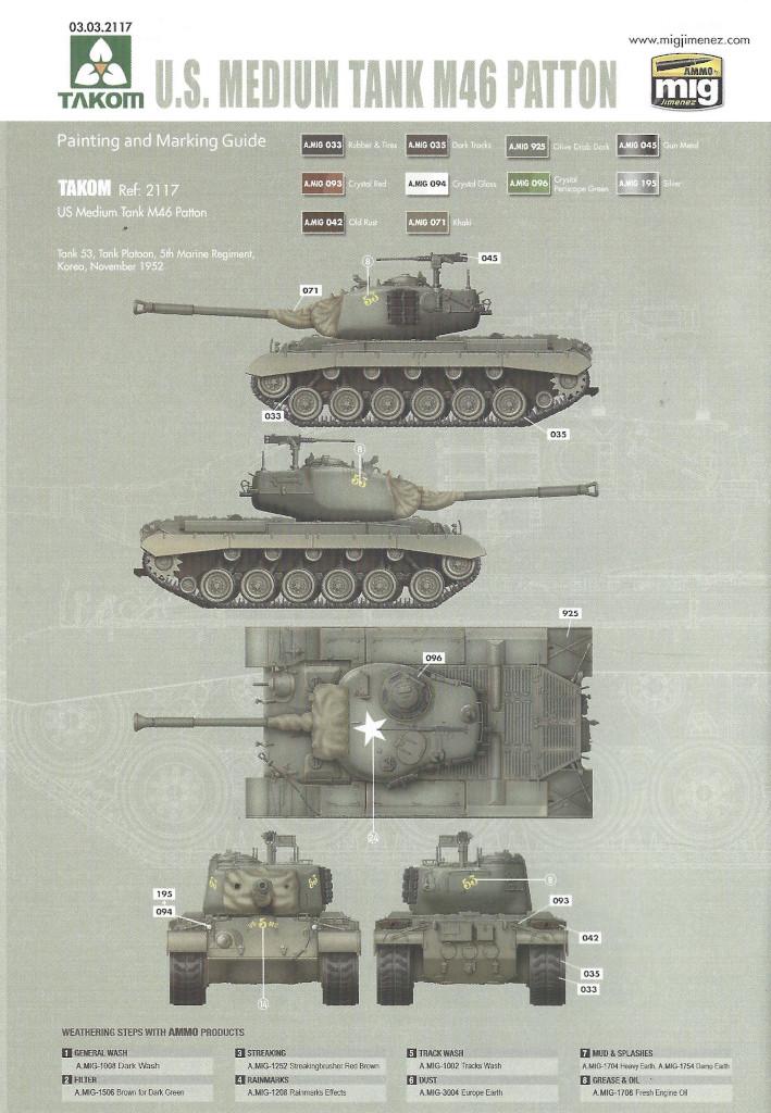 Markierung8 M46 Patton Takom 1:35 (#2117 )