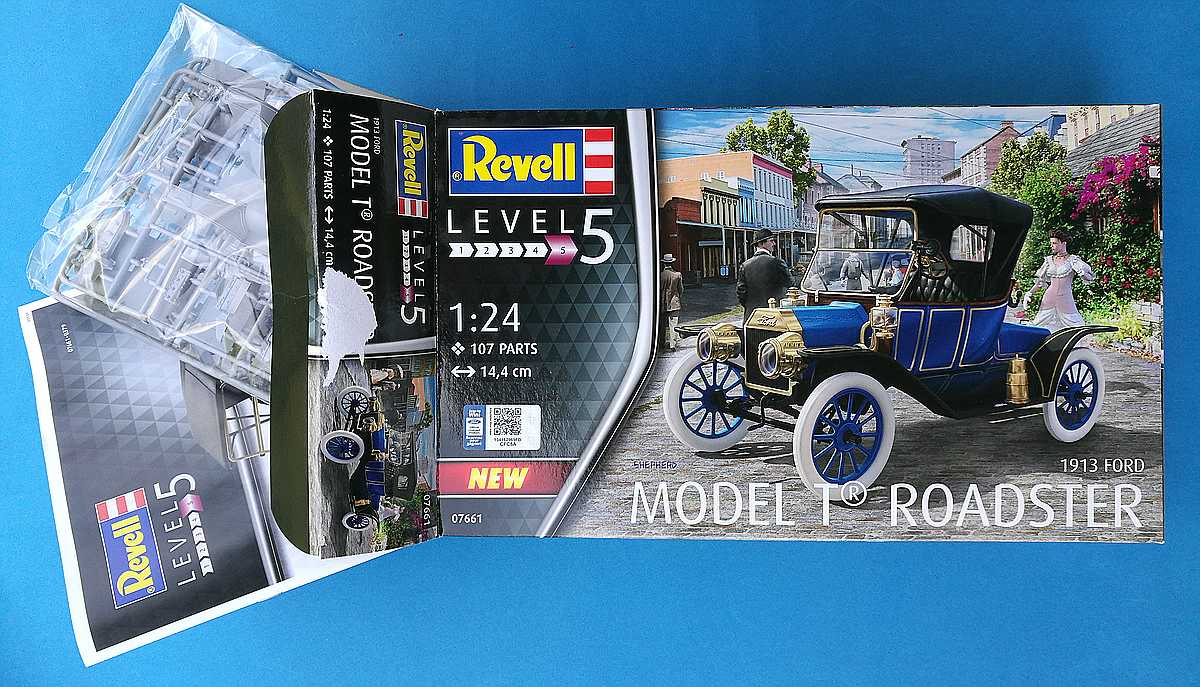 Revell-07661-Ford-Model-T-Roadster-1 Ford Model T Roadster in 1:24 von Revell # 07661