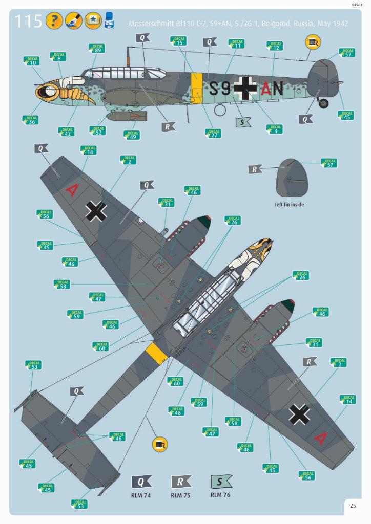 Review_Revell_Bf110C2C7_73 Bf110 C2/C7 - Revell 1/32 - #04961