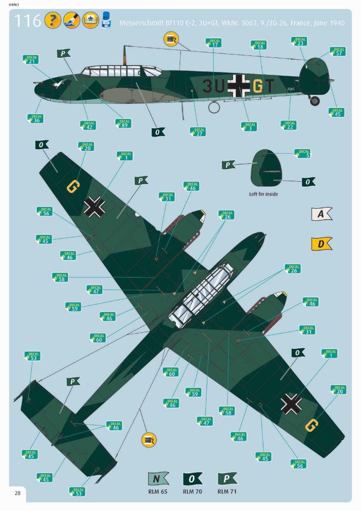 Review_Revell_Bf110C2C7_76 Bf110 C2/C7 - Revell 1/32 - #04961